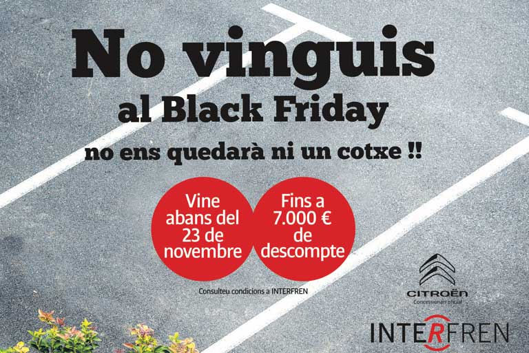 "A Interfren no fem el ""Black Friday""!"