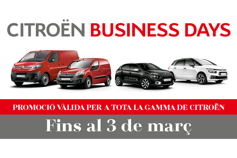 Aprofiteu els Citroën Business Days!
